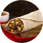 Steak and Potato Burrito